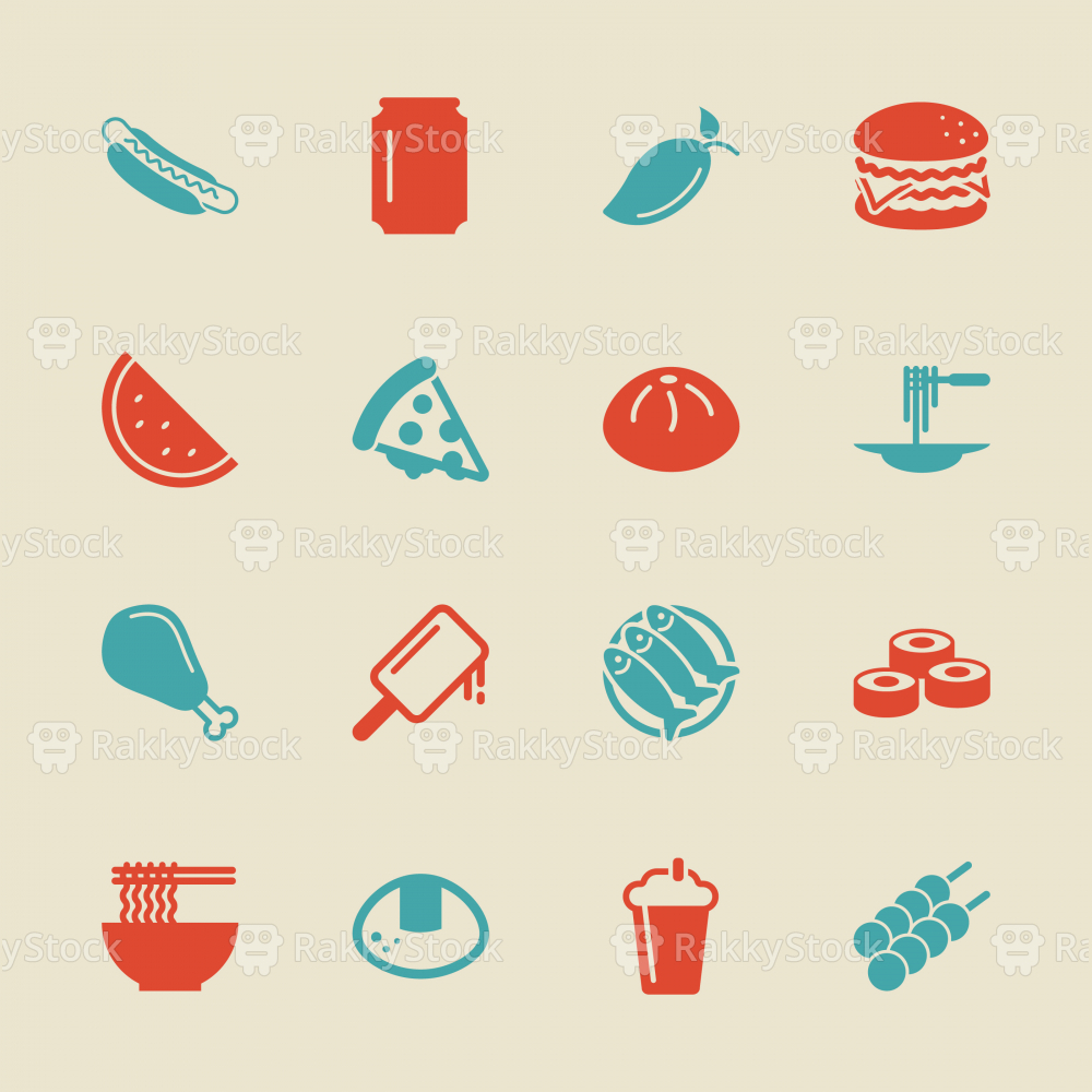 Lunch Icons - Color Series | EPS10