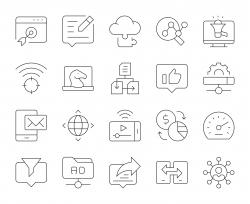 Internet Marketing - Thin Line Icons