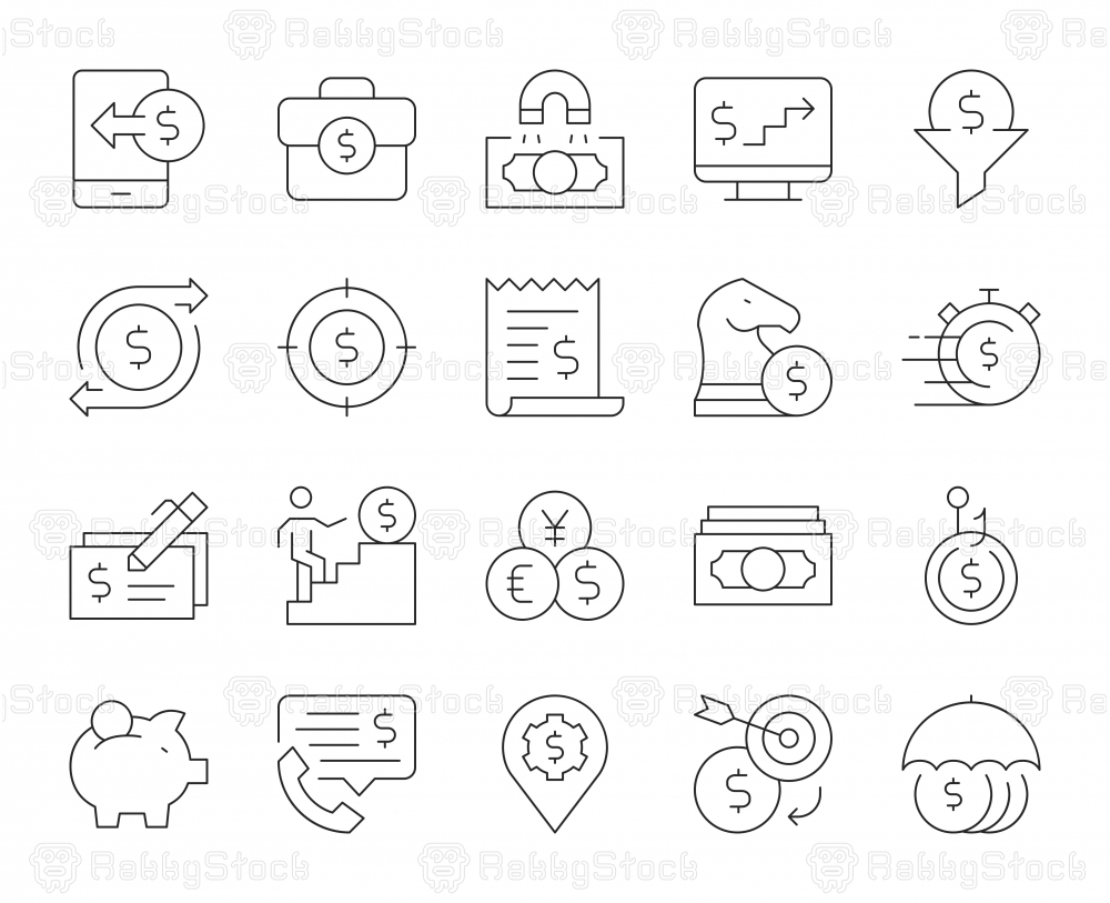 Making Money - Thin Line Icons