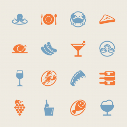 Dinner Icons - Color Series | EPS10