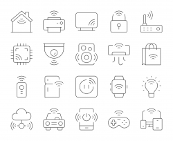 Internet of Things - Thin Line Icons