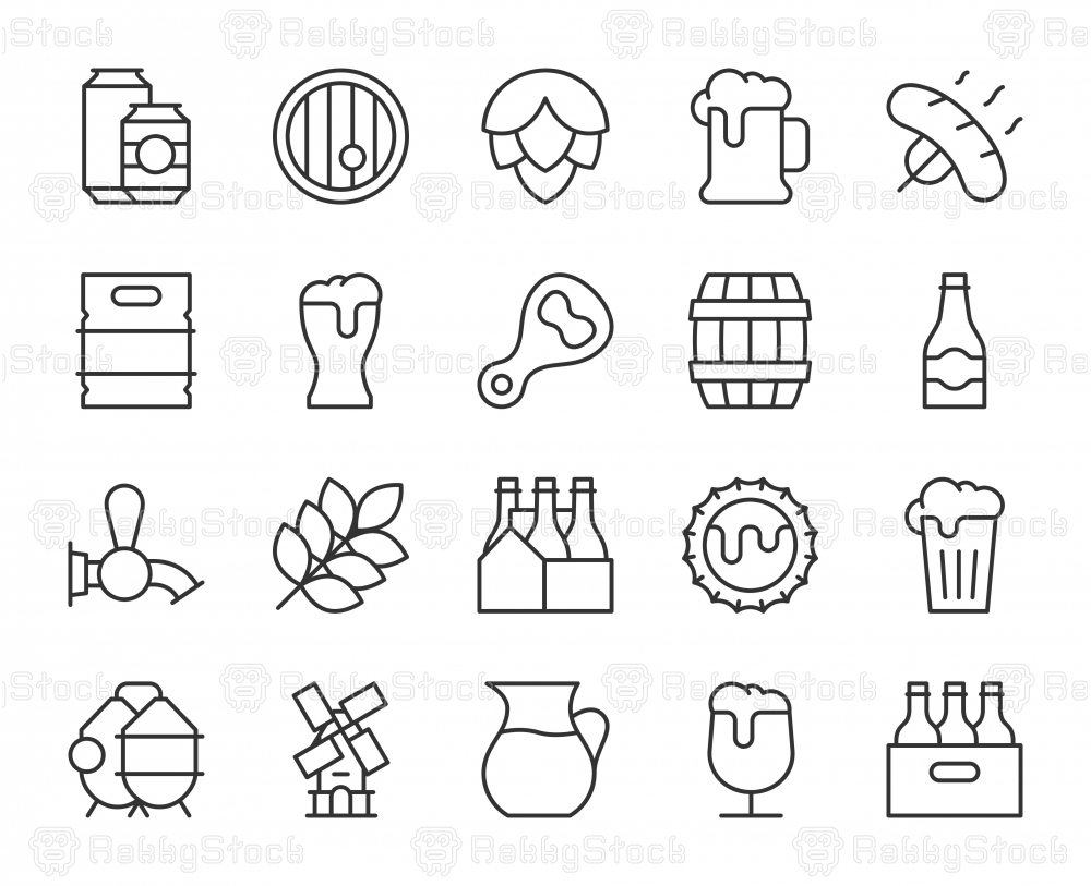 Beer - Light Line Icons