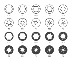 Size of Aperture Set 2 - Multi Light Icons