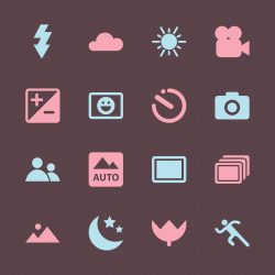 Camera Menu Icons Set 1 - Color Series | EPS10
