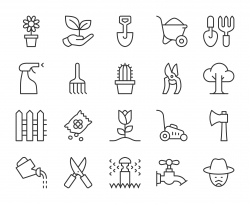 Gardening - Light Line Icons
