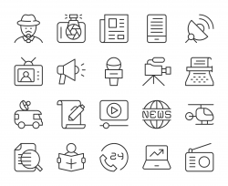 News Reporter - Light Line Icons