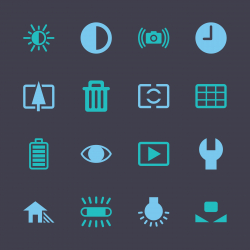 Camera Menu Icons Set 2 - Color Series | EPS10