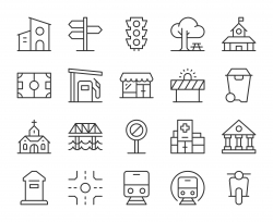 City Element - Light Line Icons