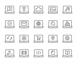 Laptop - Light Line Icons