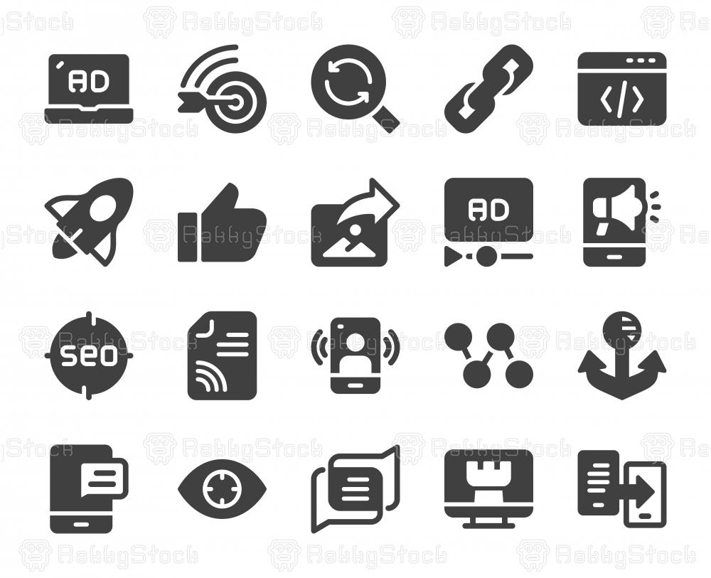 Digital Marketing - Icons