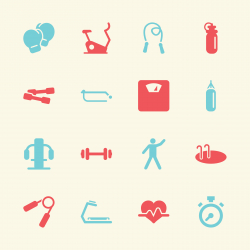 Fitness Icons - Color Series | EPS10
