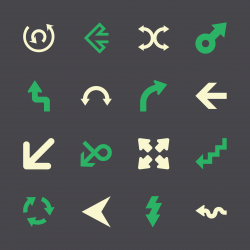 Arrow Sign Icons - Color Series | EPS10