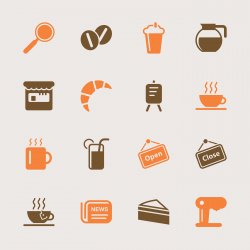 Coffee Shop Icons - Color Series | EPS10