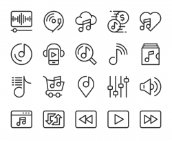 Music Streaming Store - Line Icons
