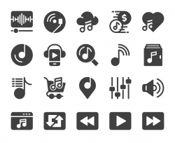 Music Streaming Store - Icons