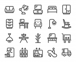 Furniture Outlet - Bold Line Icons