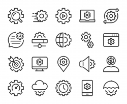 Gear Element - Line Icons