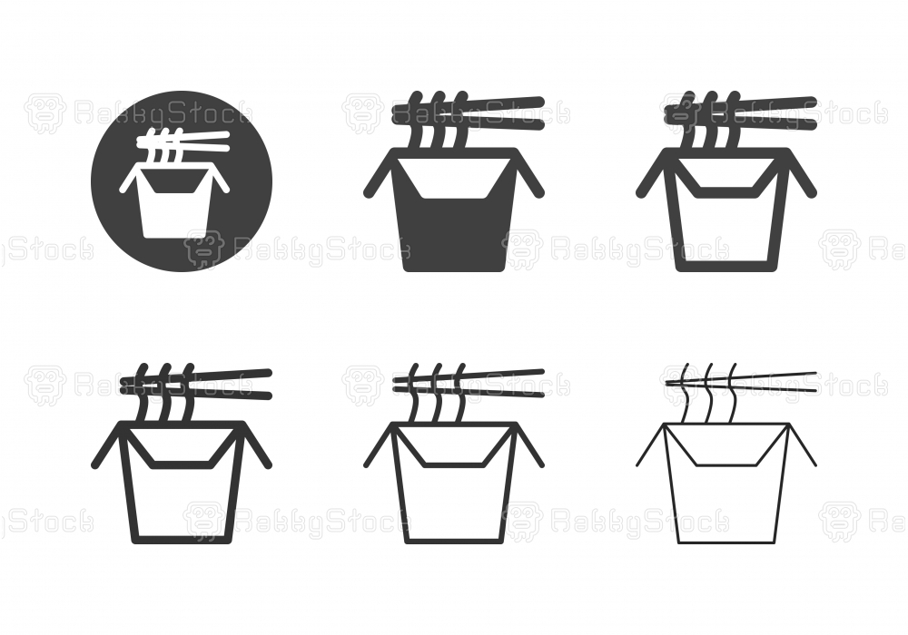 Wok Noodle Box Icons - Multi Series