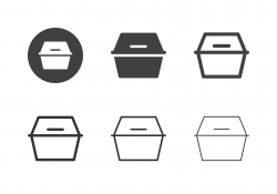 Foam Food Box Icons - Multi Series