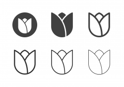 Tulip Flower Icons - Multi Series