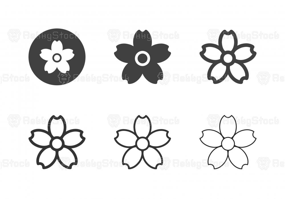 Sakura Flower Icons - Multi Series