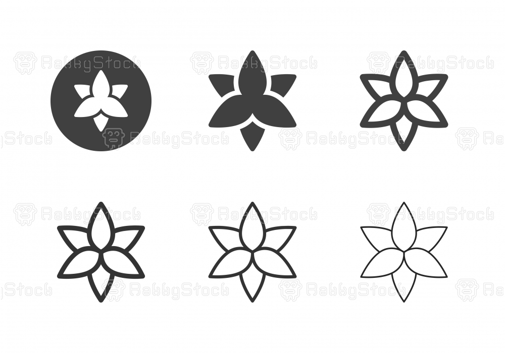 Lily Flower Icons - Multi Series