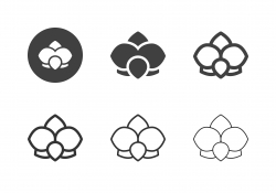 Orchid Flower Icons - Multi Series