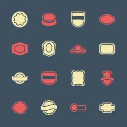 Label Icons Set 2 - Color Series | EPS10
