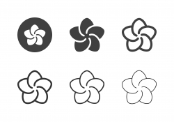 Plumeria Flower Icons - Multi Series