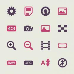 Camera Menu Icons Set 3 - Color Series | EPS10