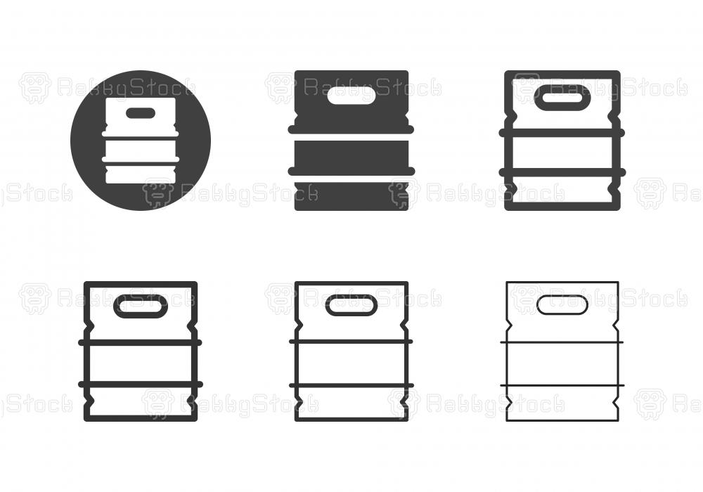 Metal Beer Keg Icons - Multi Series
