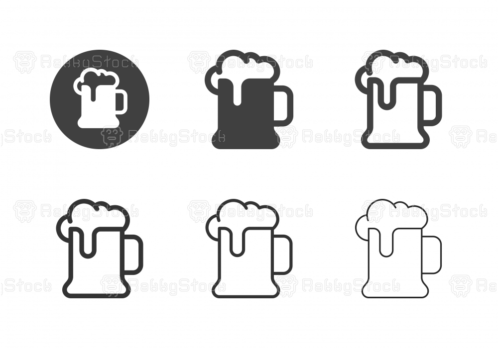 Beer Mug Icons - Multi Series