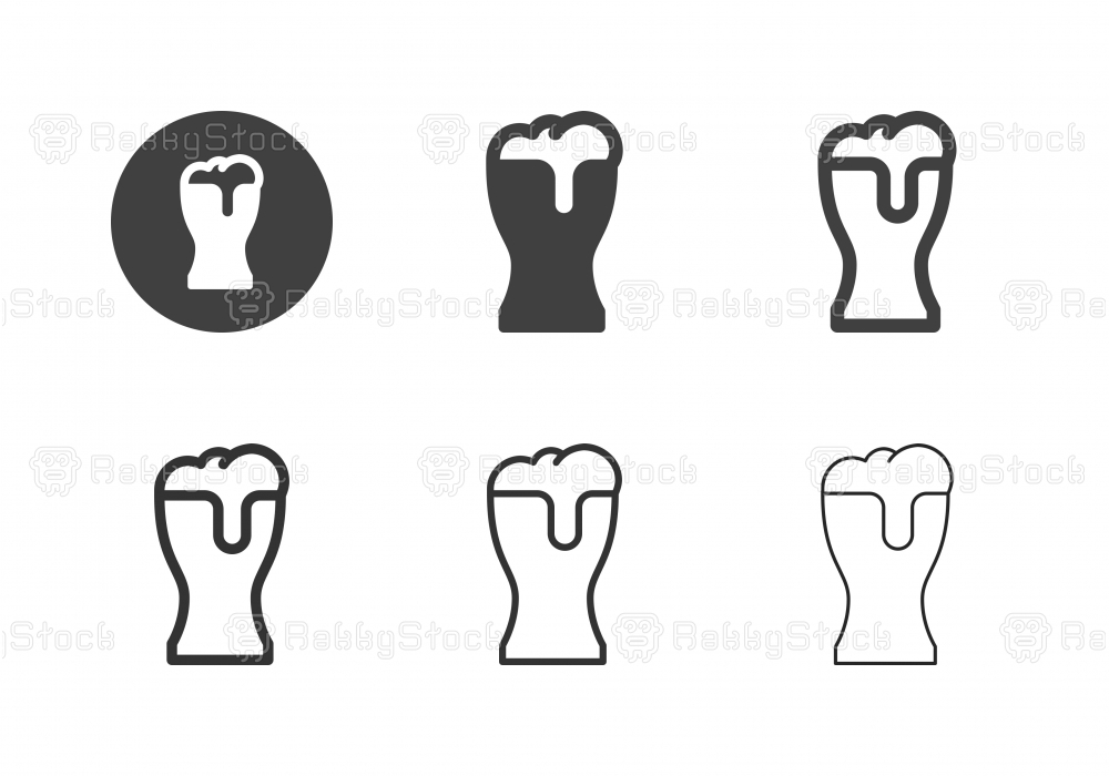Beer Glass Icons - Multi Series