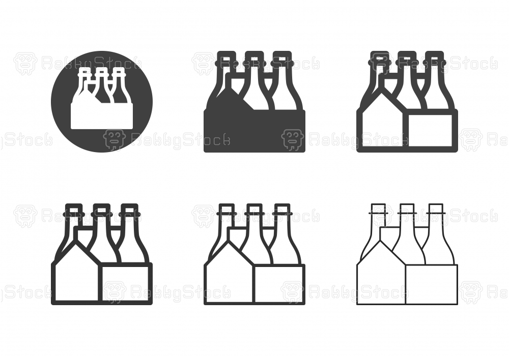 Bottle in Crate Icons - Multi Series