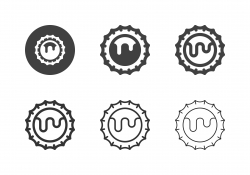 Bottle Cap Icons - Multi Series