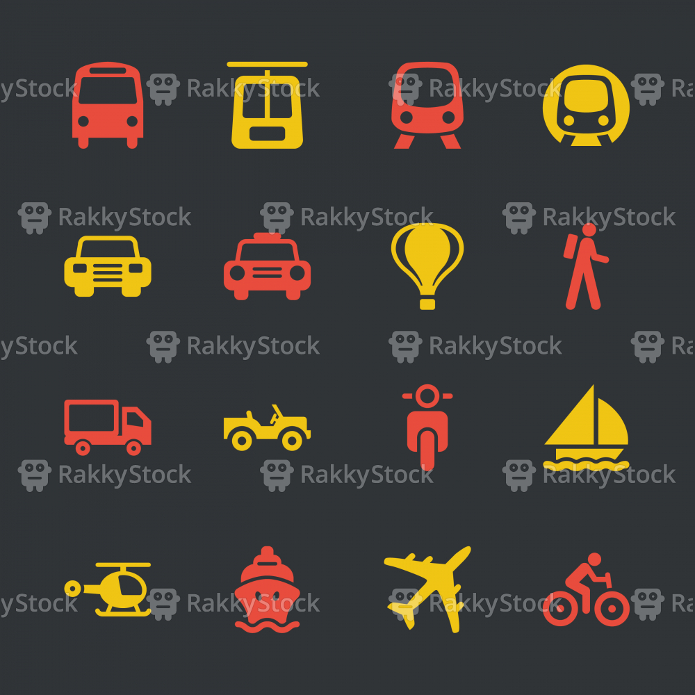Transportation Icons - Color Series | EPS10