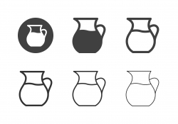 Jug of Water Icons - Multi Series