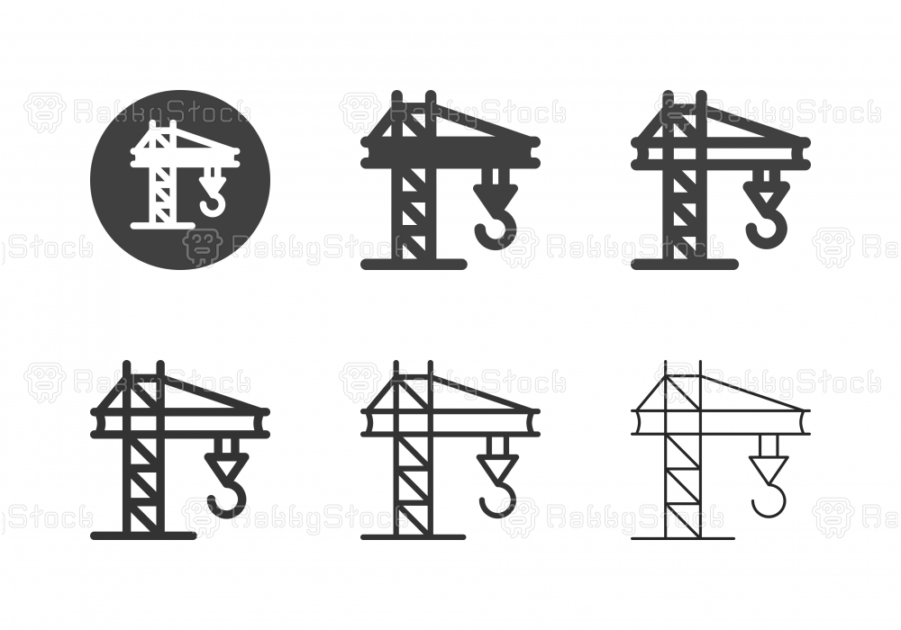 Crane Construction Machinery Icons - Multi Series