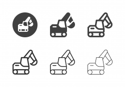 Excavator Icons - Multi Series