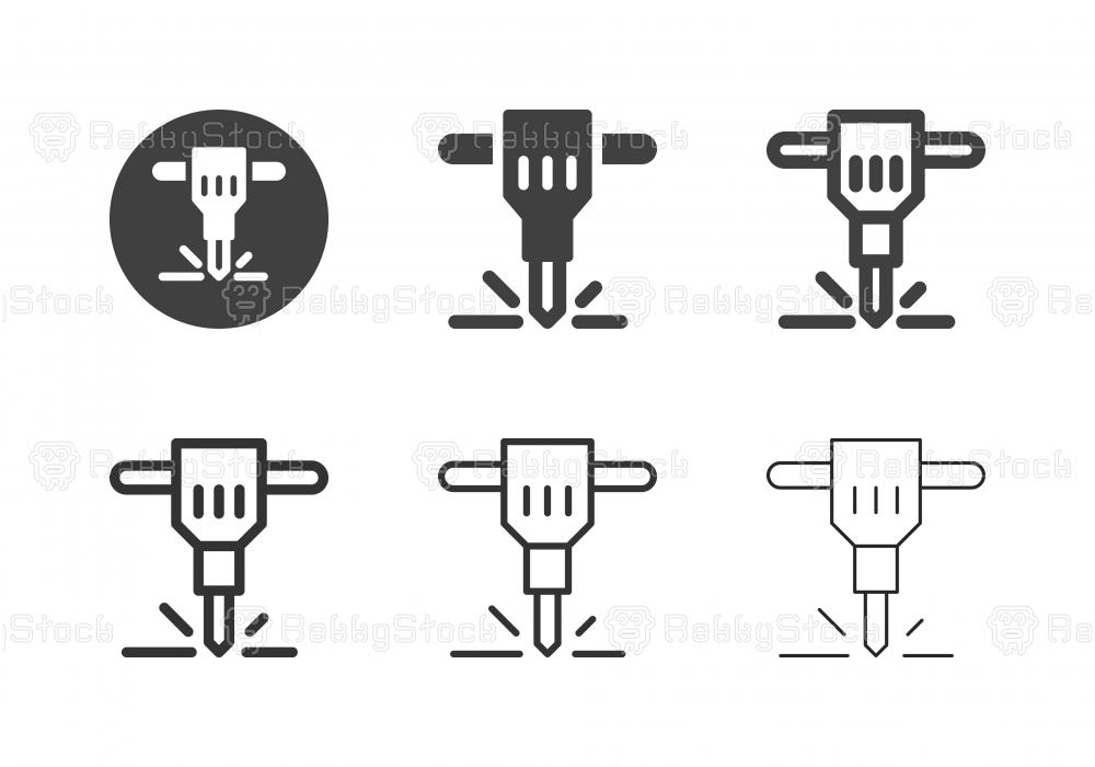 Jackhammer Icons - Multi Series