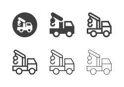 Tow Truck Icons - Multi Series