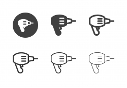 Electric Drill Icons - Multi Series