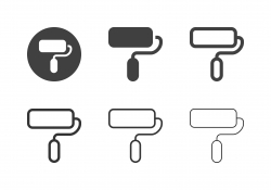 Paint Roller Icons - Multi Series