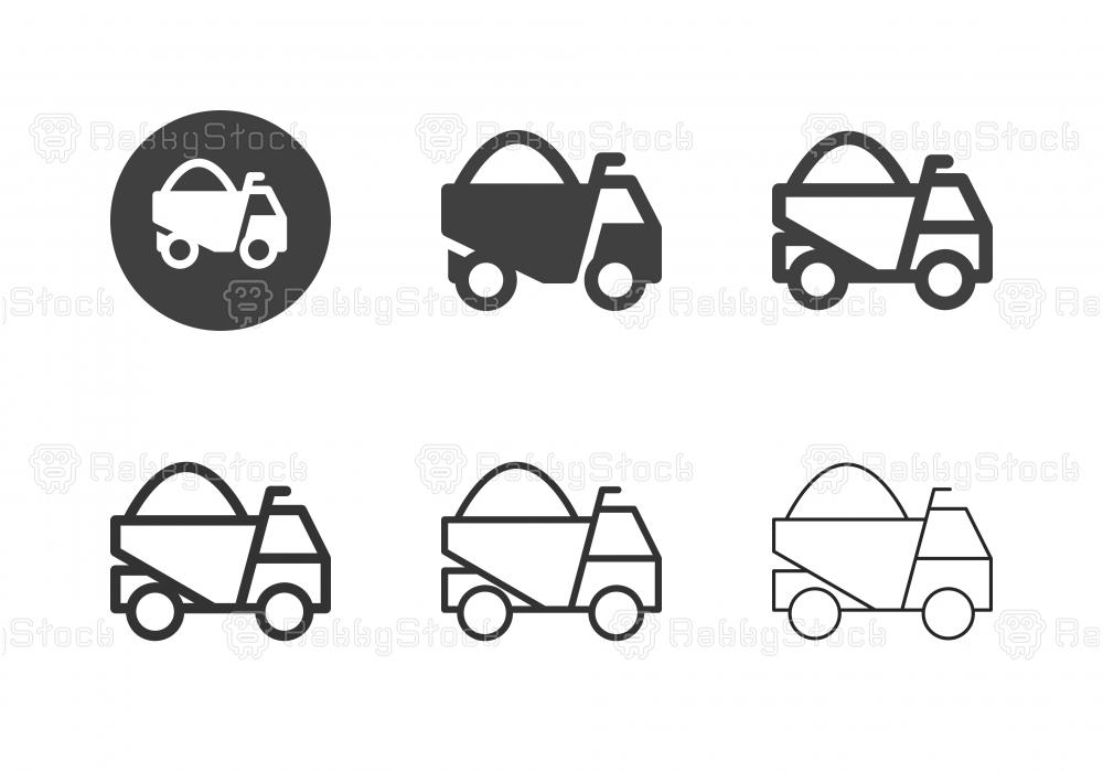 Dump Truck Icons - Multi Series