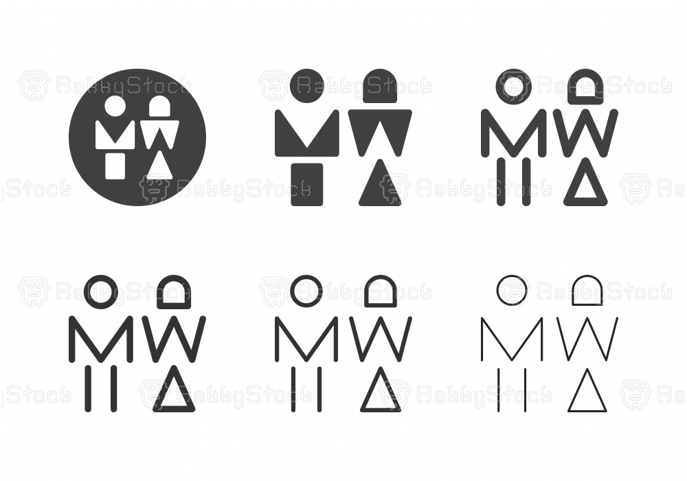 Woman and Man Icons - Multi Series
