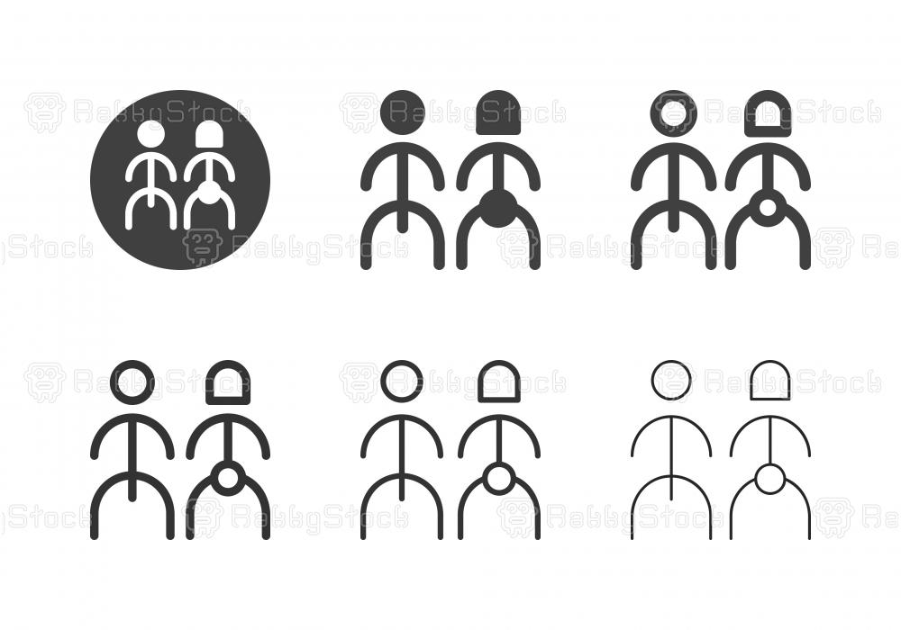 Human Gender Icons - Multi Series
