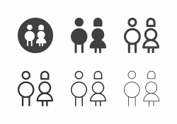 Gender Sign Icons - Multi Series