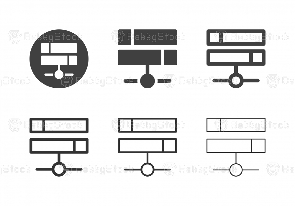 Network Server Icons - Multi Series