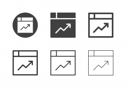 Web Statistics Icons - Multi Series