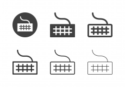 Computer Keyboard Icons - Multi Series